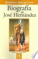 libro Biografía De José Hernández