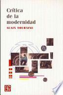 libro Crítica De La Modernidad