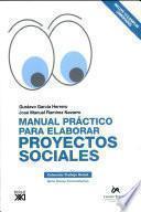 libro Manual Práctico Para Elaborar Proyectos Sociales