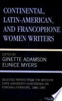 libro Continental, Latin American, And Francophone Women Writers: 1986 1987