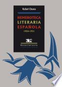 libro Hemeroteca Literaria Española