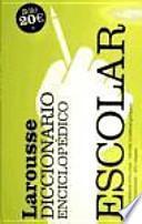 libro Diccionario Enciclopedico Escolar / School Encyclopedic Dictionary