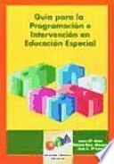 libro Guía Para La Programación E Intervención En Educación Especial
