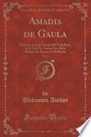 libro Amadis De Gaula, Vol. 3