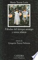 libro Fábulas Del Tiempo Amargo Y Otros Relatos
