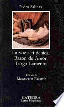 libro La Voz A Ti Debida