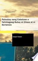libro Patnubay Nang Cabataan Talinhagang Buhay Ni Eliseo At Ni Hortensio