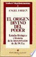 libro El Origen Divino Del Poder