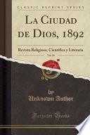 libro La Ciudad De Dios, 1892, Vol. 29
