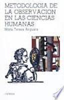 libro Metodología De La Observación En Las Ciencias Humanas
