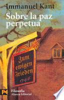 libro Sobre La Paz Perpetua