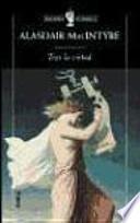 libro Tras La Virtud