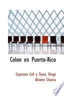 libro Colon En Puerto Rico