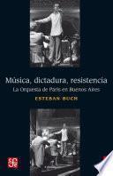 libro Música, Dictadura, Resistencia