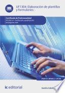 libro Elaboración De Plantillas Y Formularios. Ifcd0110