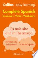 libro Easy Learning Spanish Complete Grammar, Verbs And Vocabulary (3 Books In 1) (collins Easy Learning Spanish)