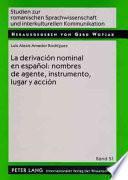 libro La Derivación Nominal En Español