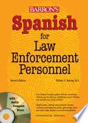 libro Spanish For Law Enforcement Personnel