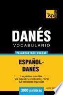 libro Vocabulario Español Danés   3000 Palabras Más Usadas