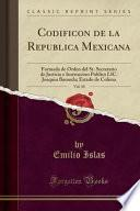 libro Codificon De La Republica Mexicana, Vol. 10