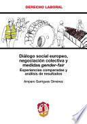 libro Diálogo Social Europeo, Negociación Colectiva Y Medidas Gender Fair