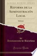libro Reforma De La Administración Local