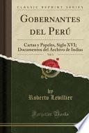 libro Gobernantes Del Perú, Vol. 3