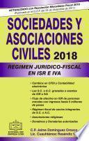 libro Sociedades Y Asociaciones Civiles RÉgimen JurÍdico Fiscal Epub 2018