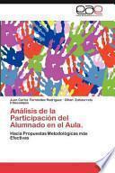 libro Análisis De La Participación Del Alumnado En El Aula