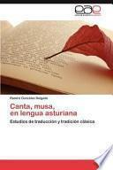 libro Canta, Musa, En Lengua Asturian