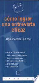 libro Cómo Lograr Una Entrevista Eficaz