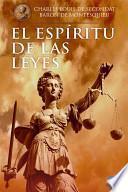 libro Del Espíritu De Las Leyes