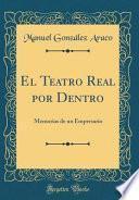 libro El Teatro Real Por Dentro
