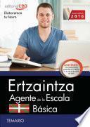 libro Ertzaintza. Agente De La Escala Básica. Temario