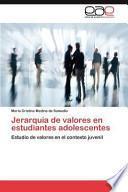 libro Jerarquía De Valores En Estudiantes Adolescentes