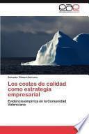 libro Los Costes De Calidad Como Estrategia Empresarial