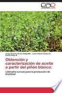 libro Obtención Y Caracterización De Aceite A Partir Del Piñón Blanco
