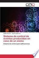 libro Sistema De Control De Eventos Producidos En Caso De Un Sismo