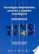 libro Tecnologias Empresariales Procesos Y Paquetes Tecnologicos