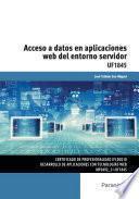 libro Uf1845   Acceso A Datos En Aplicaciones Web Del Entorno Servidor