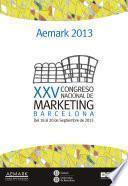 libro Xxv Congreso Nacional De Marketing. Aemark 2013