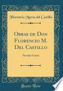 libro Obras De Don Florencio M. Del Castillo