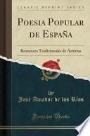 libro Poesia Popular De España