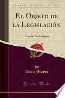 libro El Objeto De La Legislación