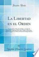 libro La Libertad En El Orden