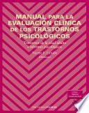 libro Manual Para La Evaluación Clínica De Los Trastornos Psicológicos