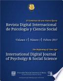 libro Revista Digital Internacional De Psicología Y Ciencia Social | Vol. 1 | Num. 1 | 2015