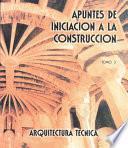 libro Apuntes De Iniciación A La Construcción Iii