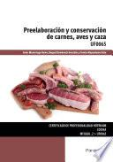 libro Uf0065 Preelaboración Y Conservación De Carnes, Aves Y Caza